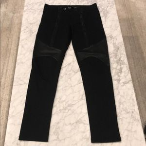 Givenchy Nylon and Leather Pants
